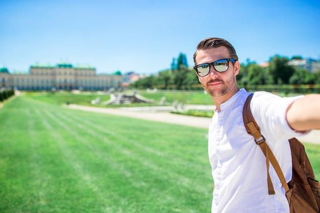 Belvedere palace in summer, vienna, austria, europe Premium Photo