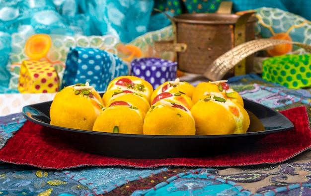 Bengali sweet food Premium Photo