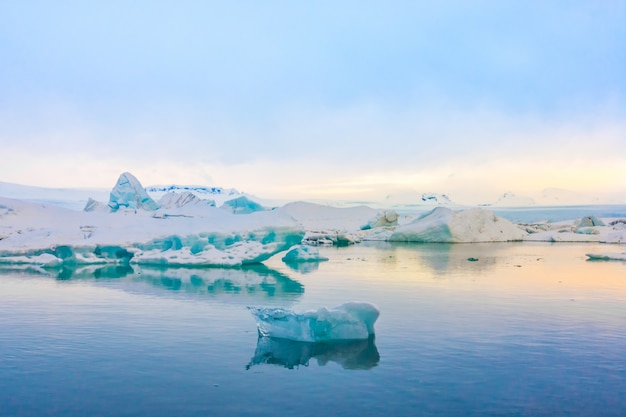 Berg snow blue lagoon cold Free Photo