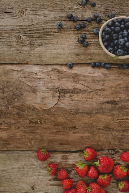 Berries on the table Free Photo