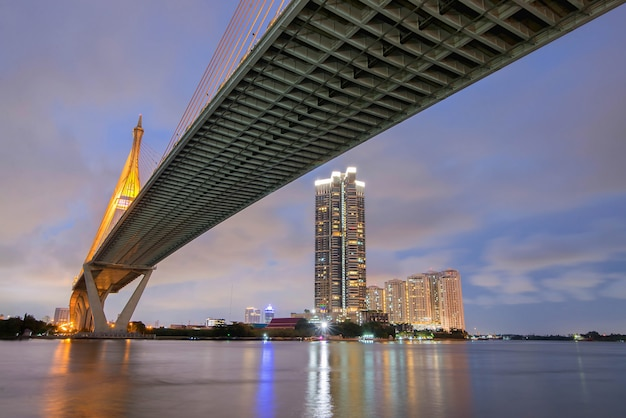 Bhumibol bridge Premium Photo