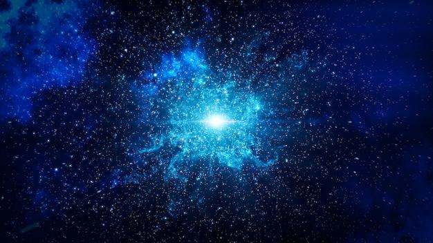 Big bang in space Premium Photo