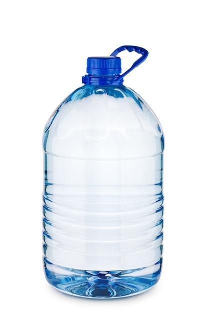水と大きな青いボトル Premium写真