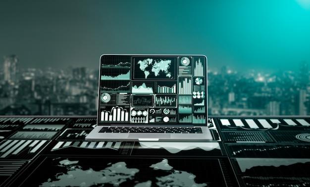 Big data technology for business finance. Premium Photo