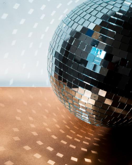 Big disco ball on floor Free Photo