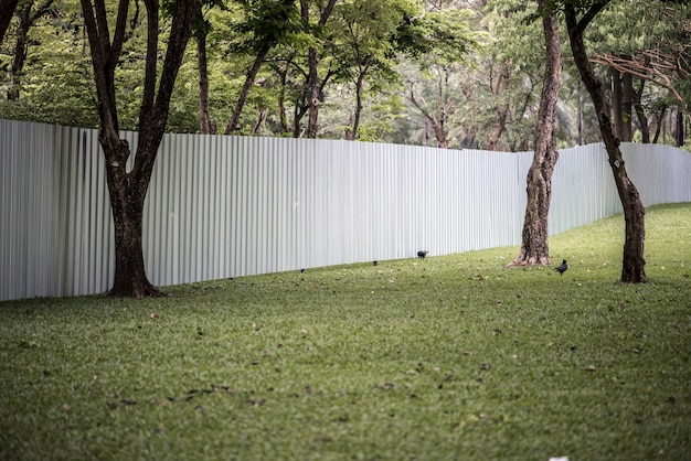 Big fence in an urban park Free Photo