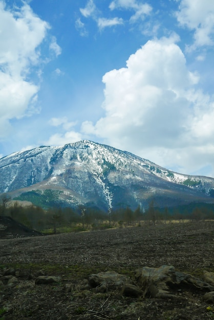 Big mountain with snow on top Free Photo