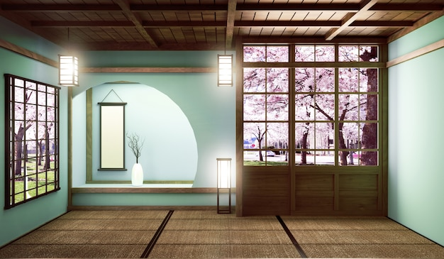 Big room very luxury zen style Premium Photo