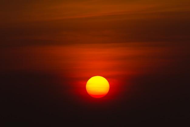Big sun on the morning Premium Photo