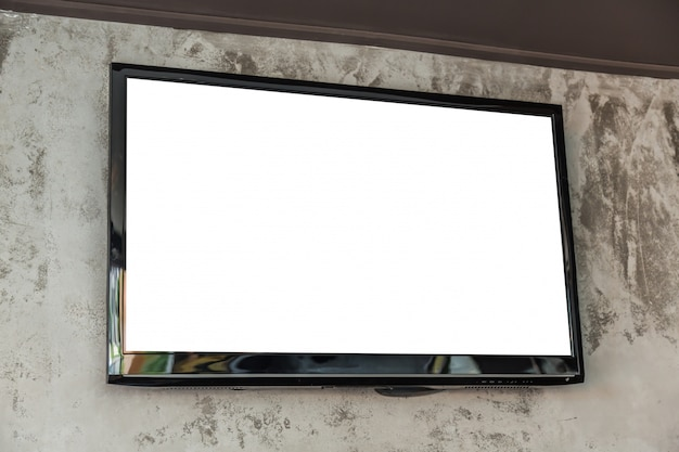 Big television with blank screen Free Photo