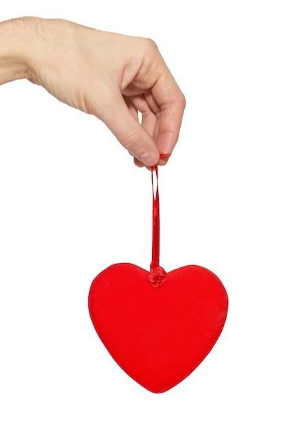 手に大きなバレンタインの心。 Premium写真