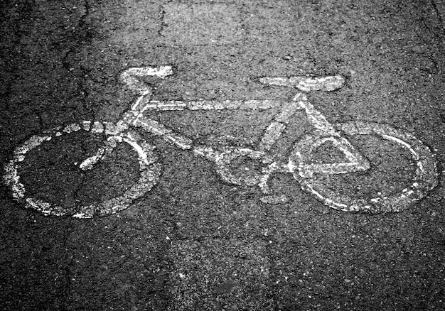 Bike lane in city street Premium Photo