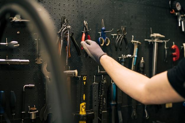 Bike repair shop Free Photo