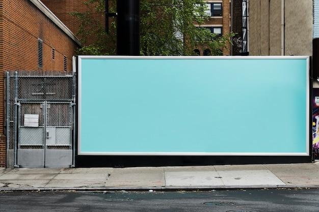 Billboard template in urban environment Free Photo