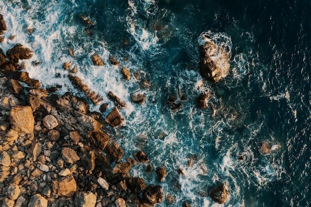 海岸休憩の鳥瞰図 無料写真