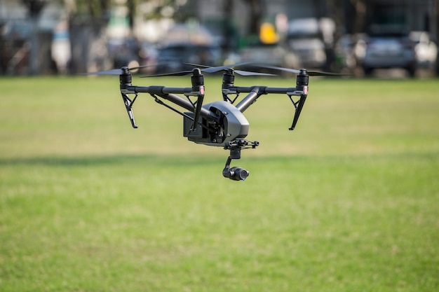 Bird's eye view with drones Premium Photo
