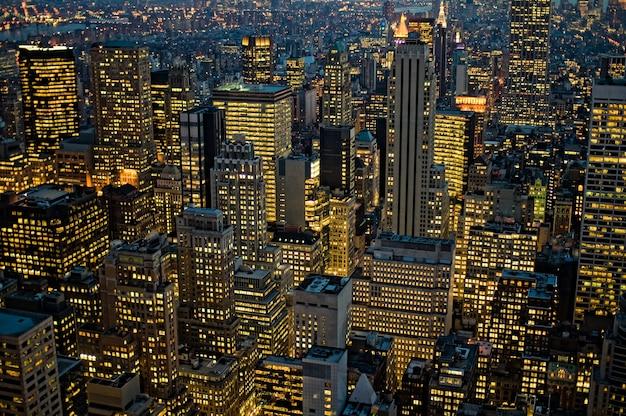 Colpo di vista dall'alto di new york manhattan negli stati uniti Foto Gratuite