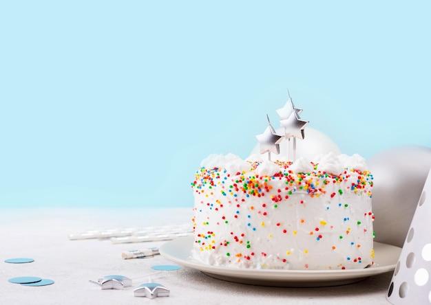 Birthday cake with sprinkles Free Photo