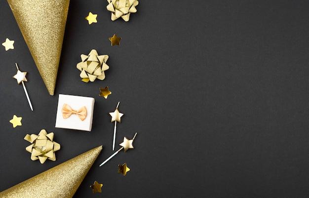 Compleanno decorazioni cornice piatta laici Foto Gratuite