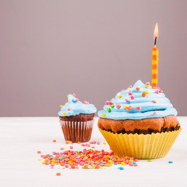 Birthday muffin Free Photo