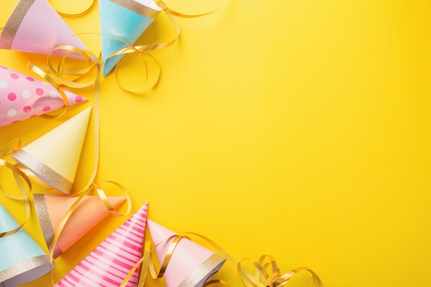 Birthday Party Background On Yellow Photo