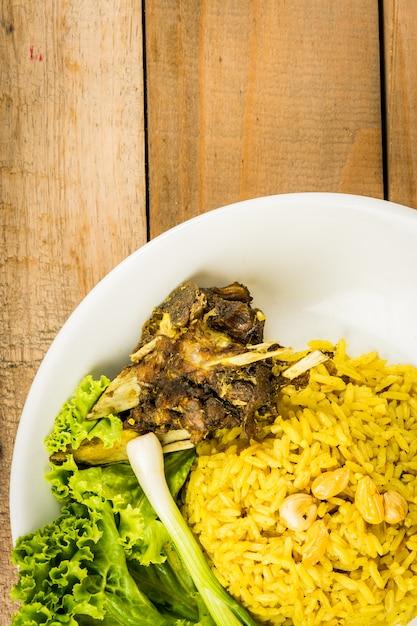 Biryani goat meat Premium Photo