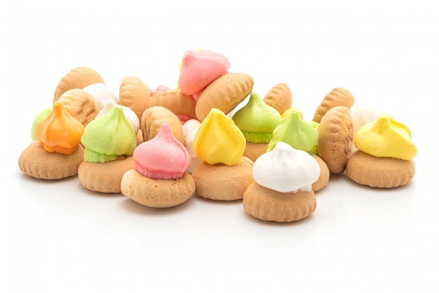 Biscuits with colourful sugar on top Premium Photo