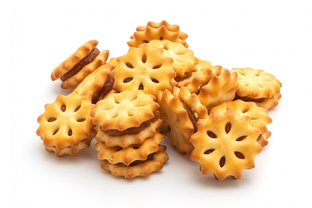Biscuits with pineapple jam Premium Photo