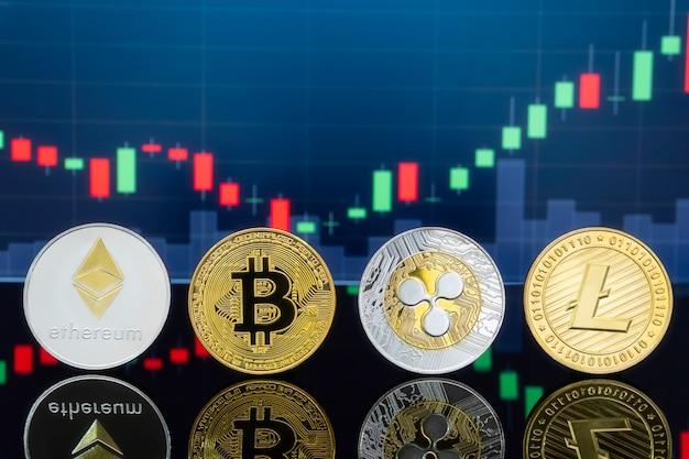 ビットコインと暗号通貨の投資コンセプト。 Premium写真