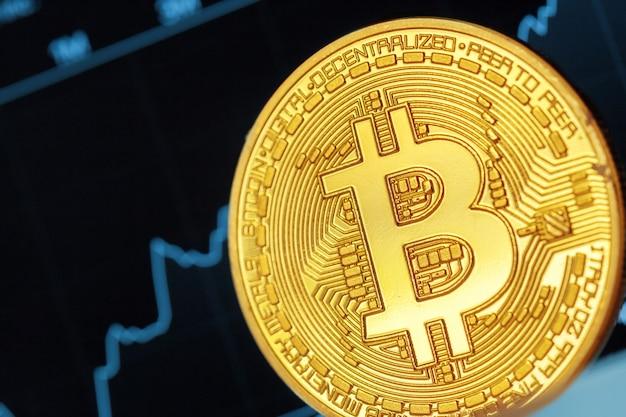 Bitcoin crypto currency diagram Premium Photo