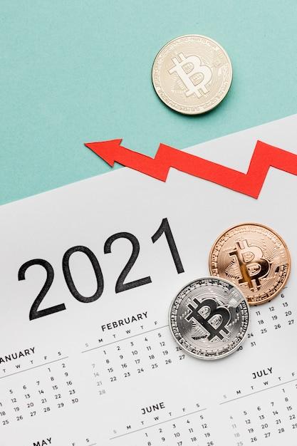 Биткойны на 2021 календарный ассортимент Бесплатные Фотографии