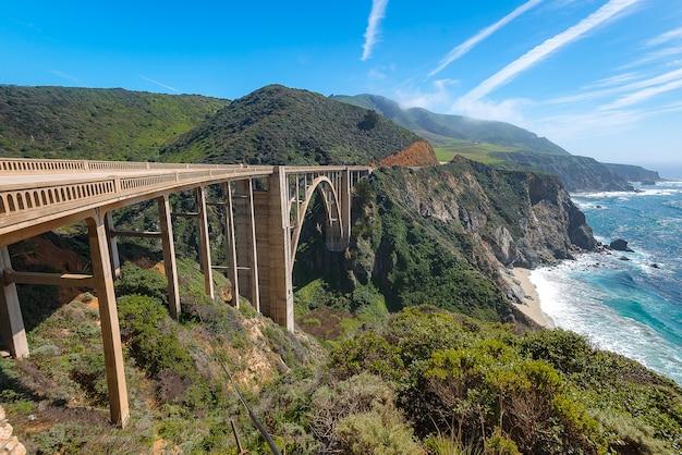 Bixby bridge, big sur caliofornia Photo | Premium Download