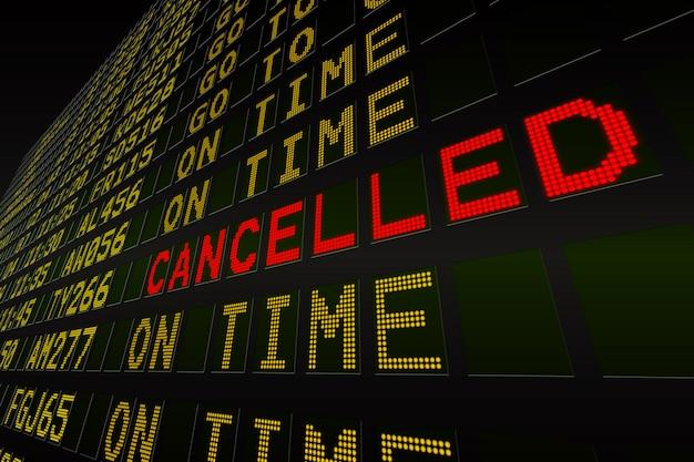 Black airport departures board Premium Photo