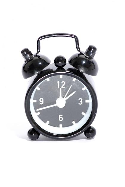 Black alarm clock Premium Photo