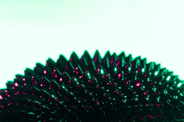コピースペースを持つ黒と紫の強磁性液体金属 無料写真
