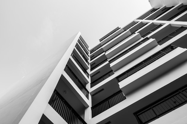 흑인과 백인 외부 건물 무료 사진