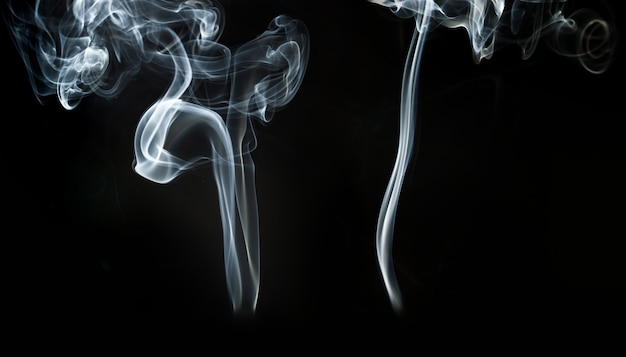 Black background with white smoke effect Photo | Free Download