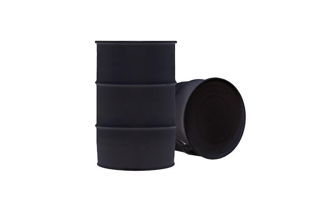 Танк черный ствол, изолированные на белом фоне Premium Фотографии