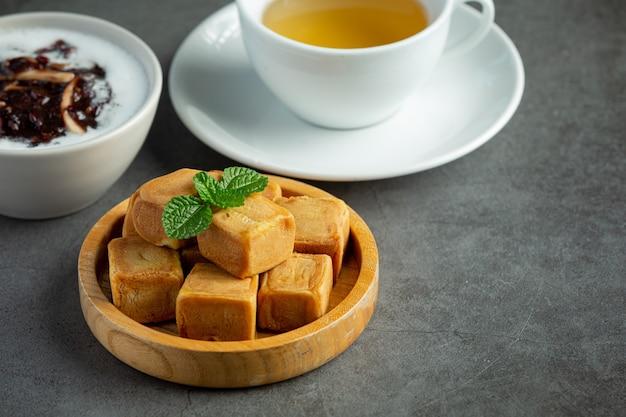 黒豆の甘いデザート料理 無料写真