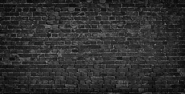 Black brick wall background Premium Photo