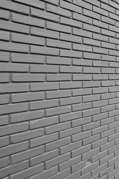 Black brick wall pattern background Premium Photo
