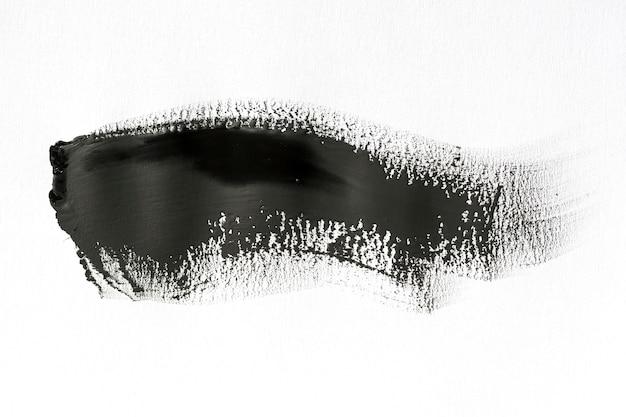 白い背景に黒のブラシストローク 無料写真