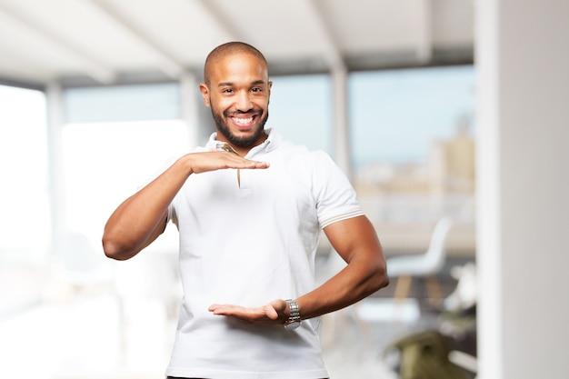 Black businessman happy expression Free Photo