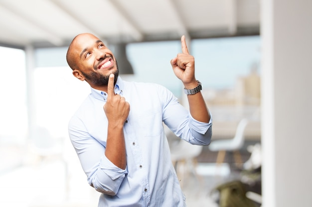 Black businessman happy expression Free Photo