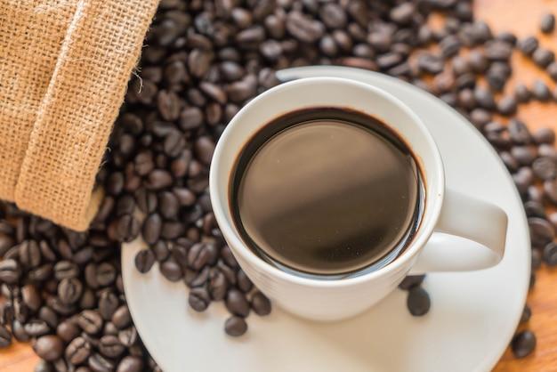 black coffee cup Free Photo