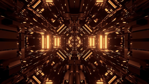 Black cosmic space with golden laser lights - perfect for a digital wallpaper Free Photo