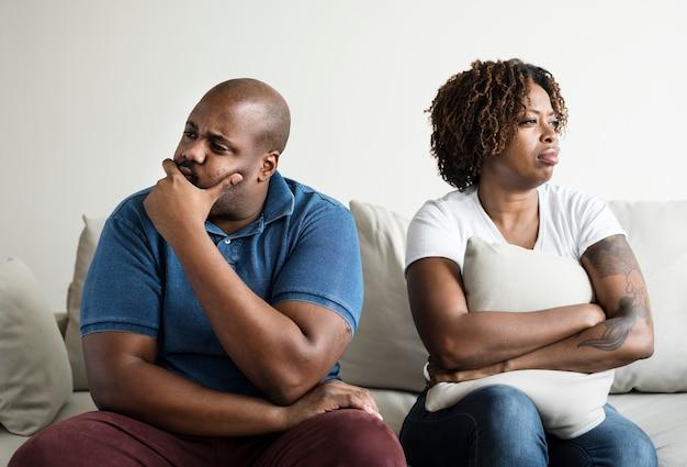 Black couple having an argument Premium Photo