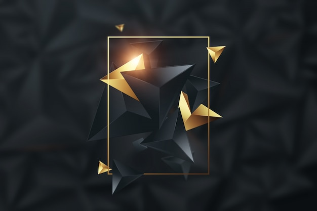 Black, creative background Premium Photo