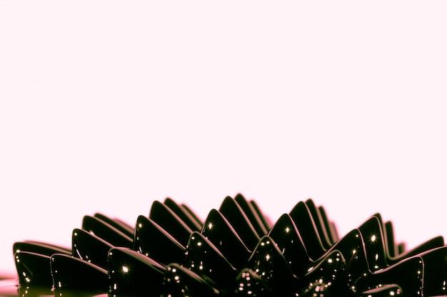 Black ferromagnetic liquid metal with copy space Free Photo