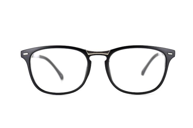 Black Frame Eyeglasses Isolated On White Background Photo